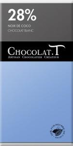 Tablette chocolat blanc - Noix de coco 28%
